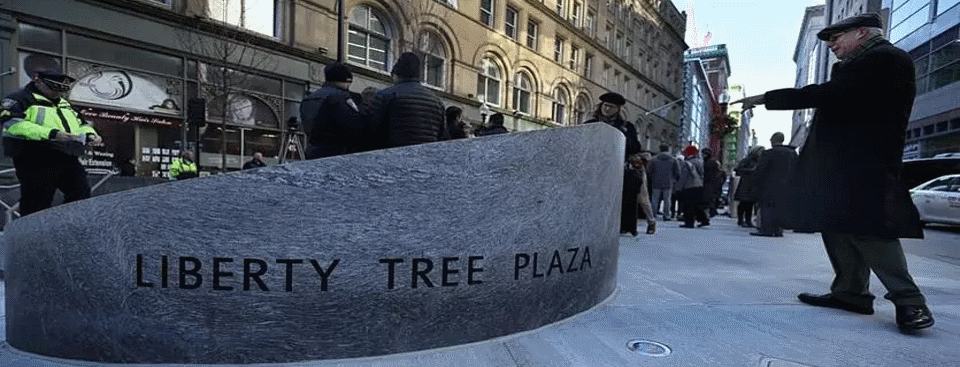Revolutionary War Heroes Remembered At Reopening Of Liberty Tree Plaza In Chinatown